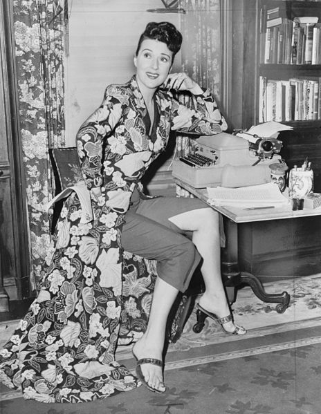 Gypsy Rose Lee, pictured here in a press photo by Fred Palumbo, knew how to market herself and her brand. She was famous for a striptease act accompanied her witty wordplay.